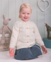 DK Pattern for Childrens' / Babys' Cabled Yoke Cardigan - Peter Pan DK 1219