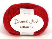 Debbie Bliss Cotton DK - Red 47 Main image