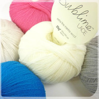 Sublime Extra Fine Merino Wool Lace - Collection of Balls of Yarn