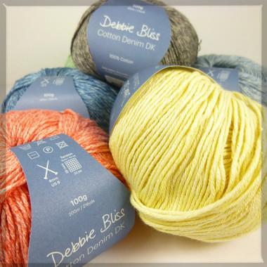 A heap of gorgeous Debbie Bliss Cotton Denim DK colours