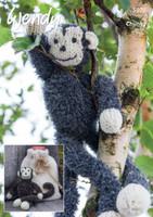 A little monkey toy Knitting Pattern in Wendy Eisder