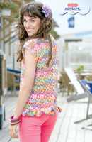 Free Adriafil Brigit Top pattern which can be knitted in Adriafil Kimera