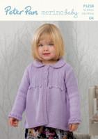 Dk pattern for a swing cardigan - Peter Pan Merino Baby Dk 1258