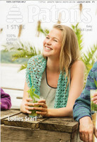 Crochet pattern for a ladies scarf in Patons 100% Cotton 4 Ply   Pattern number 4073