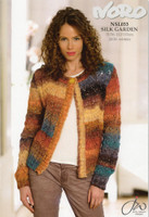 Lace Pattern Cardigan - Noro Silk Garden NSL033