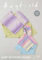 Chunky knitting patterns for Baby / Childrens' Ponchos - Hayfield Baby Blossom Chunky 4679
