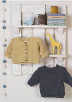 Jammy and Dodger - Pattern for a Simple Cardigan and Sweater - Erika Knight