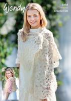 Crochet Lace Stole Pattern | 5994 | Wendy Fleur Dk