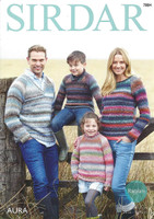 Sweaters Chunky Knitting Pattern in Sirdar Aura Chunky | 7884 - main image