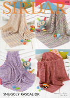 Patterns for Blankets | Sirdar Snuggly Rascal DK 4770