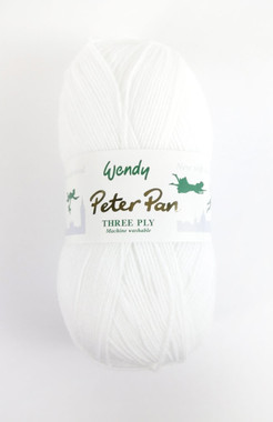 Peter Pan 3ply - 100g White