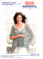 Calypso Shawl Crochet Pattern | Adriafil Margarita Cotton yarn