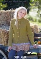 Double Breast Jacket DK Knitting Pattern | Sirdar Harrap Tweed DK 7481