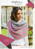 Esme Striped Shawl Pattern| WYS Wensleydale Gems