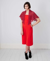 Half Hexagonal Shawl Knitting  Pattern | Debbie Bliss Fine Donegal - Main Pattern Image