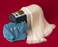 Baby Pullover & Blanket Pattern   Adriafil Avantgarde  - Free Downloadable Knitting Pattern B04 - Main image