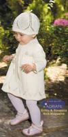 Donatell Set (Dress & Hat) Knitting Pattern using Adriafil Genziana Yarn   Free Downloadable Pattern - Main image