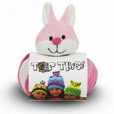 DMC Top This! Wool Hat Knitting Kit - Rabbit Hat Kit