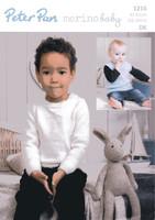 Childrens Sweater & Tank Top Pattern | Peter Pan Merino Baby DK 1216