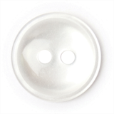 White Rimmed Buttons - 14 mm | 2 hole