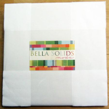 Bella Solids | Moda Fabrics | White | Layer Cake - Main Image