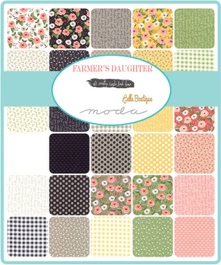 Farmers Daughter | Lella Boutique | Moda Fabrics | Layer Cake - Fabric Patterns in the layer cake fabric pack