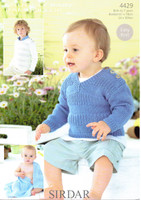 Baby / Childrens Sweater & Blanket DK Pattern | Sirdar Snuggly Bamboo DK 4429