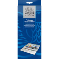 Winsor and Newton Cotman Water Colour Half Pan Studio Set, 45 Half Pans - Main Image