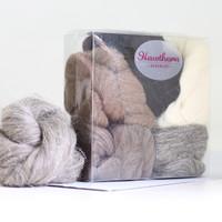 Hawthorn British Wool Roving Bundle No. 1   Hawthorn Handmade