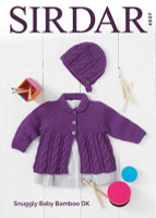 Cardigan & Bonnet | Sirdar Baby Bamboo DK 4937 - what you could make