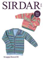 Baby / Childrens Cardigan DK Knitting Pattern | Sirdar Snuggly Rascal DK 5174 - Main Image