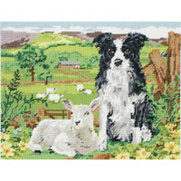 Anchor Tapestry Kit, Border Collie and Lamb