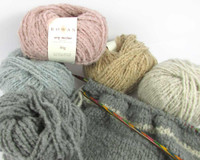 Rowan Cosy Merino Chunky Yarn | 50g balls | Various shades with Striped Snood in progress