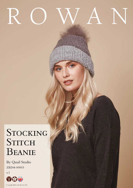 Stocking Stitch Beanie Hat Pattern | Rowan Cosy Merino Chunky