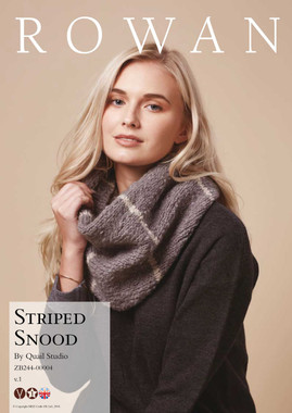 Free Downloadable Knitting Pattern for Striped Snood for Rowan Cosy Merino Chunky Wool - Main Image