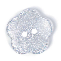 Clear Sparkly Flower Buttons | 24 mm or 38 lignes