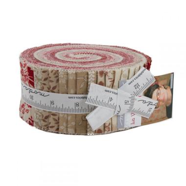 La Vie en Rouge   French General   Moda Fabric   Jelly Roll - Main Image