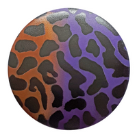 Dill Buttons | Leopard Print Buttons | Purple and Orange Gradient | 20mm