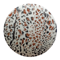 Dill Buttons | Leopard Print Buttons | White | 20mm