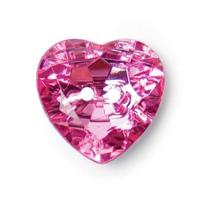 Sparkling Pink Heart Button - 20mm