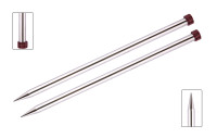 KnitPro Nova Metal Straight Single Point Needles | 30 cm Long - Main Image