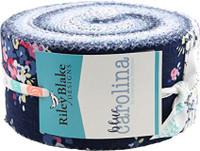 Riley Blake Blue Carolina Pre-cut Fabric Pack, 2.5 Inch Rolie Polie 40 Pcs - Main Image