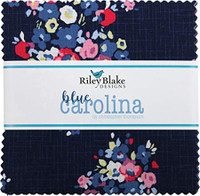"Blue Carolina, 5"" Square Pre-Cuts Fabric Charm Pack (42pk) 