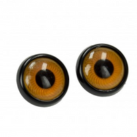 Efco | Owl's Eyes | Plastic with Loop | Light Brown