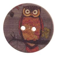 Wooden Owl Buttons | various sizes