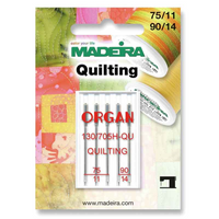 Madeira | Machine Embroidery Needles | Quilting | Sizes 75 - No. 11 & 90 - No.14 | 5pcs