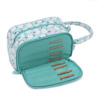 Crochet Storage Bag with Bamboo Crochet Hooks - Sheepish