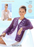 Crocheted Cardigan and Waistcoat DK Pattern | Sirdar Cotton DK 7072