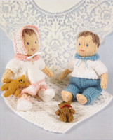 Knits and Pieces - Matilda and Maisy (Glove puppets and their Babies) Pattern