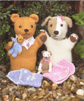 Knits and Pieces - Matilda and Maisy (Glove puppets and their Babies)